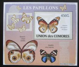 Poštovní známka Komory 2009 Motýli DELUXE Mi# 2152 Block