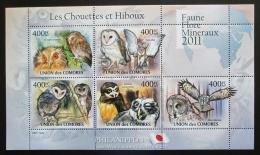 Poštovní známky Komory 2011 Sovy Mi# 3013-17 Bogen Kat 10€