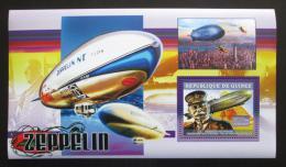 Poštovní známka Guinea 2006 Vzducholodì, Ferdinand Zeppellin Mi# Block 1088