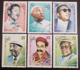 Poštovní známky Kuba 2007 Zpìváci a skladatelé Mi# 4939-44