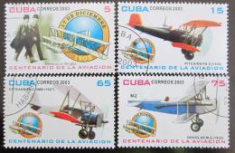 Poštovní známky Kuba 2003 Století létání Mi# 4568-71
