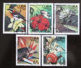 Poštovní známky Kuba 2003 Fauna a flóra Mi# 4521-25