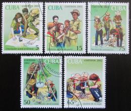 Poštovní známky Kuba 2002 Mladí pionýøi Mi# 4414-18