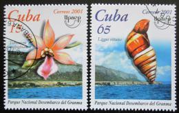 Poštovní známky Kuba 2001 Flóra a fauna Mii# 4378-79