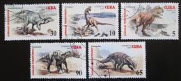Poštovní známky Kuba 2005 Dinosauøi Mi# 4667-71