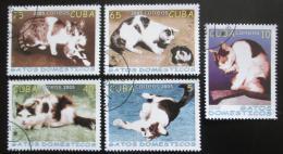 Poštovní známky Kuba 2005 Domácí koèky Mi# 4700-04