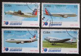 Poštovní známky Kuba 1999 Letadla Mi# 4238-41