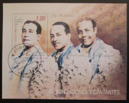 Poštovní známka Kuba 2007 Zpìváci a skladatelé Mi# Block 226