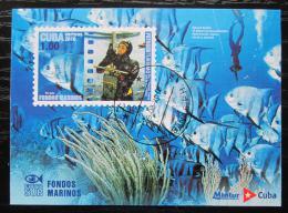 Poštovní známka Kuba 2010 Fotografie života v moøi Mi# Block 274