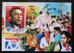 Poštovní známka Kuba 2009 Lázaro Peòa, odborová organizace Mi# Block 254