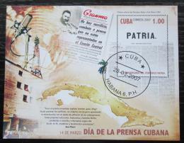 Poštovní známka Kuba 2007 Noviny Patria, 115. výroèí Mi# Block 222