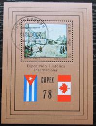 Poštovní známka Kuba 1978 Výstava CAPEX Mi# Block 54