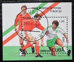 Poštovní známka Kuba 1989 MS ve fotbale Mi# Block 114
