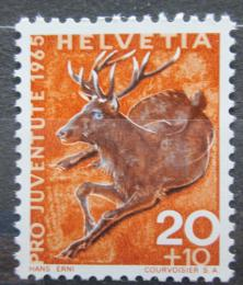 Poštovní známky Švýcarsko 1965 Jelen evropský Mi# 828