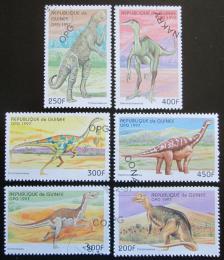 Poštovní známky Guinea 1997 Dinosauøi Mi# 1709-14 Kat 8€
