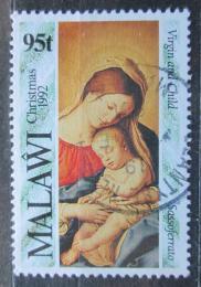 Poštovní známka Malawi 1992 Vánoce, umìní Mi# 607