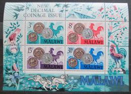 Poštovní známky Malawi 1971 Mince Mi# Block 21
