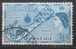 Poštovní známka Bermudy 1953 Mapa ostrova Mi# 142
