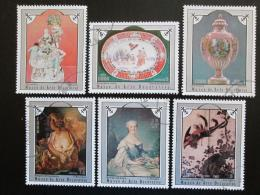 Poštovní známky Kuba 1975 Umìlecké pøedmìty Mi# 2049-54