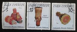 Poštovní známky Kuba 1972 Hudební nástroje Mi# 1816-18