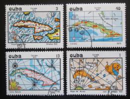Poštovní známky Kuba 1973 Mapy Mi# 1925-28