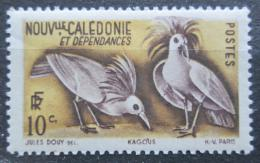 Poštovní známka Nová Kaledonie 1948 Kagu chocholatý Mi# 326