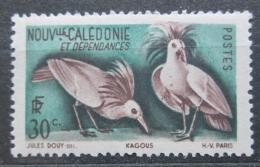 Poštovní známka Nová Kaledonie 1948 Kagu chocholatý Mi# 327