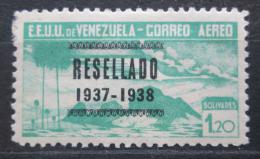 Poštovní známka Venezuela 1937 Alegorie letu pøetisk RARITA Mi# 224 Kat 40€
