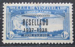 Poštovní známka Venezuela 1937 Letadlo nad Caracasem pøetisk Mi# 226 Kat 10€