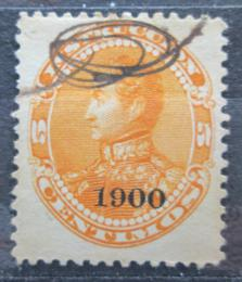 Poštovní známka Venezuela 1900 Simón Bolívar pøetisk Mi# 72
