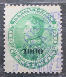 Poštovní známka Venezuela 1900 Simón Bolívar pøetisk Mi# 75
