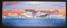 Poštovní známky Gibraltar 2008 Výletní lodì Mi# Block 85