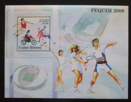 Poštovní známka Guinea-Bissau 2005 LOH Peking Mi# Block 520 Kat 16€