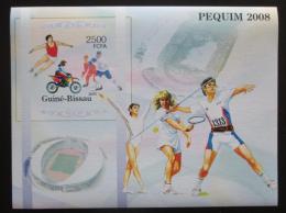 Poštovní známka Guinea-Bissau 2005 LOH Peking neperf. Mi# Block 520 B