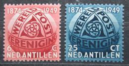 Poštovní známky Nizozemské Antily 1948 UPU, 75. výroèí Mi# 4-5 Kat 10€