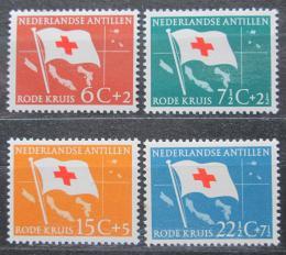 Poštovní známky Nizozemské Antily 1958 Vlajka Èerveného køíže Mi# 88-91