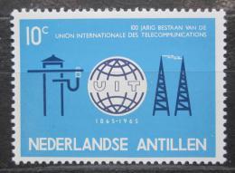 Poštovní známka Nizozemské Antily 1965 ITU, 100. výroèí Mi# 148