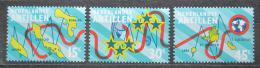 Poštovní známky Nizozemské Antily 1973 Rozvoj telekomunikací Mi# 269-71