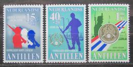 Poštovní známky Nizozemské Antily 1979 Armáda dobrovolníkù Mi# 395-97