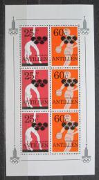 Poštovní známky Nizozemské Antily 1980 LOH Moskva Mi# Block 14