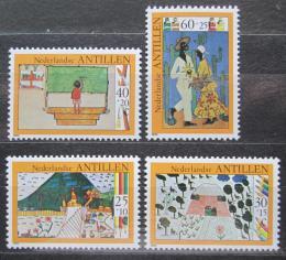 Poštovní známky Nizozemské Antily 1980 Dìtské kresby Mi# 432-35