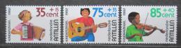 Poštovní známky Nizozemské Antily 1982 Dìti a hudební nástroje Mi# 481-83