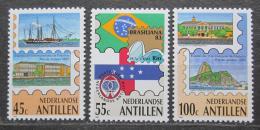 Poštovní známky Nizozemské Antily 1983 Výstava BRASILIANA Mi# 494-96
