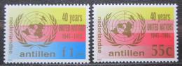 Poštovní známky Nizozemské Antily 1985 OSN, 40. výroèí Mi# 560-61