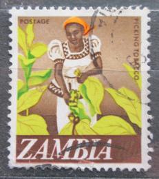 Poštovní známka Zambie 1968 Sklizeò tabáku Mi# 44