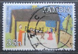 Poštovní známka Zambie 1986 Vánoce Mi# 369