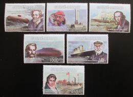 Poštovní známky Guinea-Bissau 2008 Lodì a jejich kapitáni Mi# 4000-05 Kat 14€