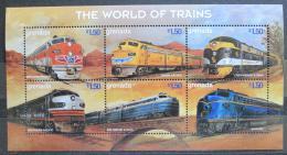 Poštovní známky Grenada 1999 Lokomotivy Mi# 3872-77