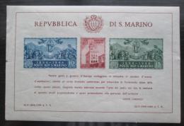 Poštovní známky San Marino 1945 Vládní palác neperf RARITA Mi# Block 4 B Kat 150€