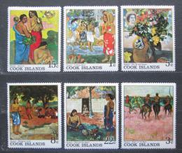 Poštovní známky Cookovy ostrovy 1967 Umìní, Paul Gauguin Mi# 170-75